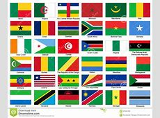 AfrikaFlaggenVektorSatz vektor abbildung Illustration