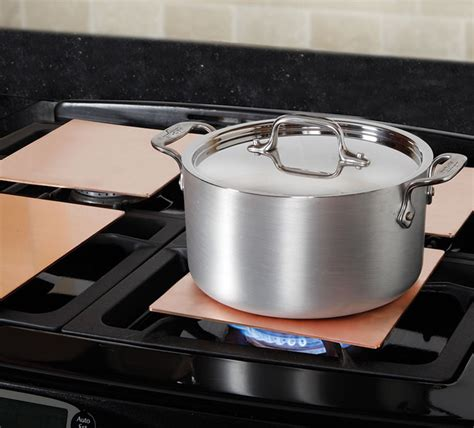 heating copper burner plates  green head