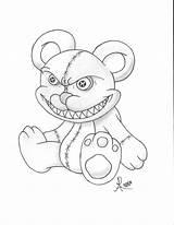 Teddy Crazy Bear Creepy Drawing Evil Drawings Deviantart Getdrawings Random Deviant sketch template