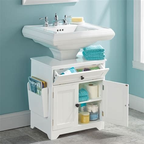 Pedestal Sink Storage Cabinet by Bathroom Pedestal Sink Storage Cabinet Storage Designs