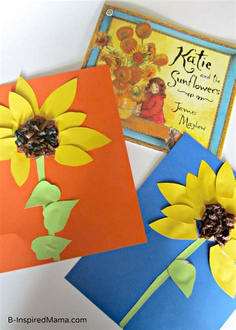 book inspired sunflower kids craft   inspiredmamacom