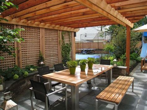 Wood And Stainless Steel Outdoor Table