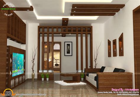 home interior design kerala style wooden finish interiors kerala home design and floor plans