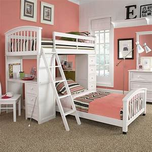 Ne, Kids, Schoolhouse, Student, Loft, Bed, -, White