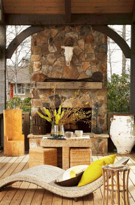 Rustic Outdoor Stone Fireplace Ideas Rustic Outdoor Stone