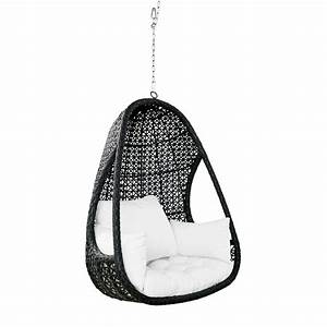 Fauteuil Suspendu Jardin : fauteuil suspendu de jardin en r sine tress e noire et ~ Dode.kayakingforconservation.com Idées de Décoration