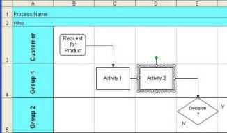 Excel Flowchart Template Excel Drawing Toolbar Select Objects 2007 2016