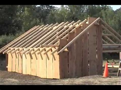 building  native american plank house youtube