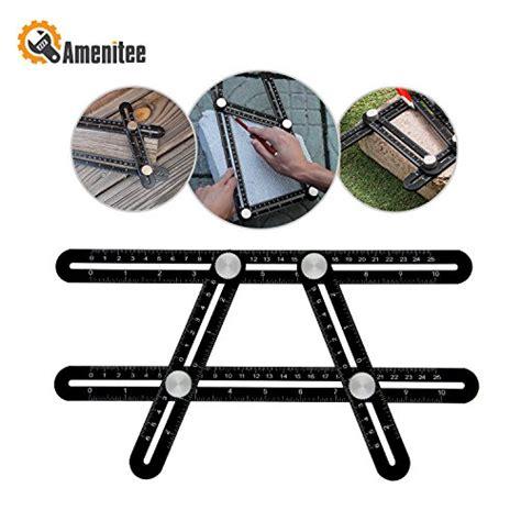 amenitee template tool amenitee ultra nook scale ruler metal multi angle measuring tool ultimate angleizer