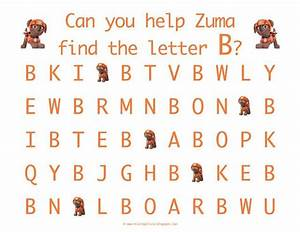 letter recognition with the uppercase letter b with zuma With paw patrol learning letters