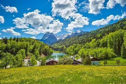 Germany Landscape Summer Nature Forest Mountain Field