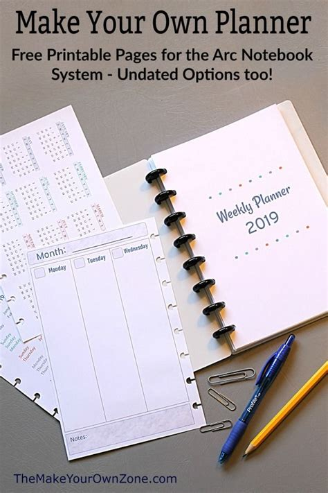 printable planner pages zone planners