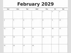 April 2029 Calendars Free
