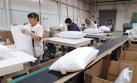 the pillow factory 8 59 p m reopened pillow factory comforts local workers