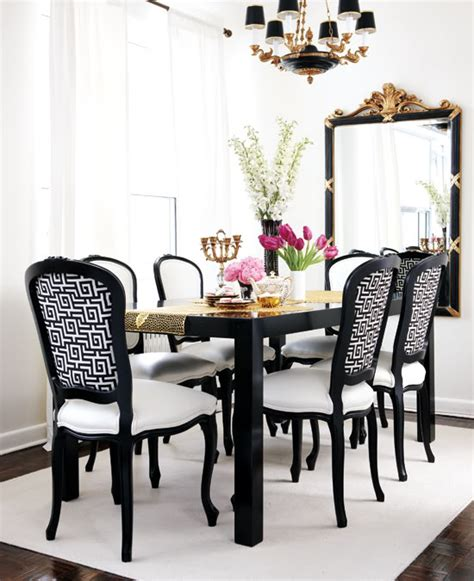 black  white dining room french dining room style