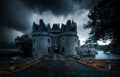 Castle Dark Autumn France Background Fantasy Telegram