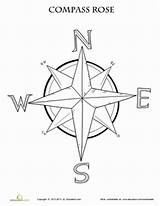 Compass Rose Coloring Map Worksheet Maps Printable Grade Pages Worksheets Activities Education Skills 3rd Learning Teaching Studies Adult Template Clipart sketch template