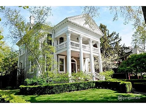 neoclassical home neoclassical home i like how the grey house off sets the