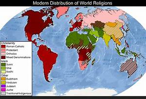 Modern Distribution of World Religions « Why Evolution Is True