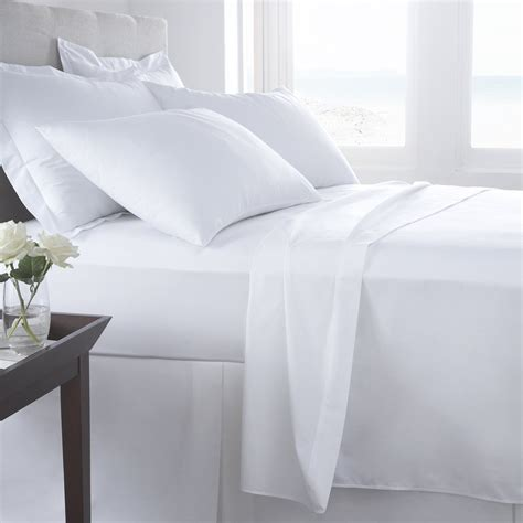 percale t 180 classic queen size flat sheets cvc spi 90 x110