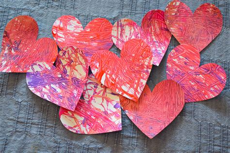 Marble Painted Hearts And Garland What Can We Do With