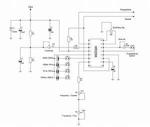 Xr2206 Function Generator Working   Circuit Diagram