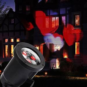 love heart landscape laser beam moving led projector light With lamp light red on projector