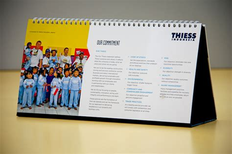 thiess indonesia corporate calendar  behance
