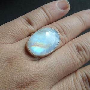 Buy Rainbow Moonstone Ring Large Oval Moonstone Sterling