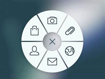 Circular Menu Animation Ui Circle Side Icon