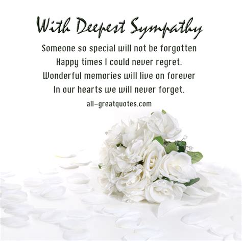Condolence Message Sympathy Card