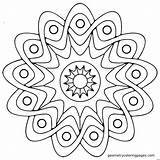 Coloring Pages Easy Fall Mandala Bold Animal Printable Getcolorings sketch template