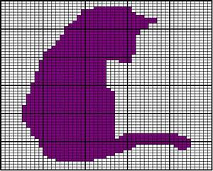 Cat Silhouette Chart A A Chart Used To Knit One Of Two