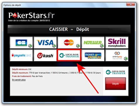 d 233 p 244 t d argent par virement bancaire sur pokerstars