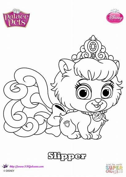 Palace Pets Coloring Pages Disney Slipper Princess