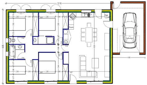 plan maison 100m2 plein pied 3 chambres plan maison plein pied 100m2 rectangle 102 messages page 3