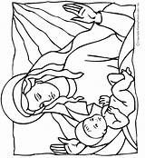 Jesus Coloring Pages Birth Bible Mary Christ Mother Colouring Makingfriends Printable Christmas Crafts Lds Embroidery Adult Christian Patterns Enfant Clipartmag sketch template