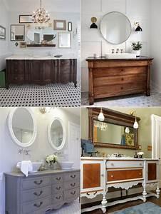 Commode Pour Salle De Bain : meuble salle de bain r cup 70 id es pour une d co qui ~ Teatrodelosmanantiales.com Idées de Décoration