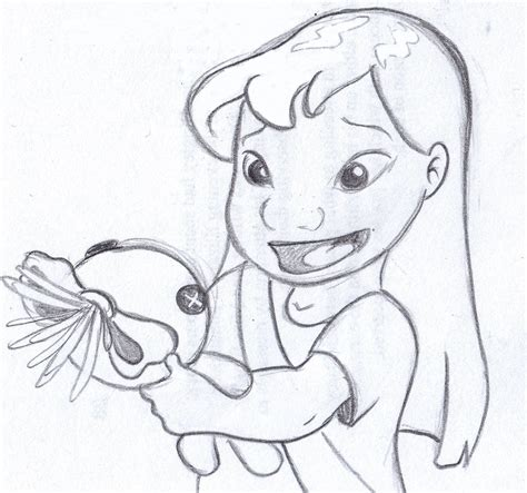 "disney sketch - ""This is Scrump."" lilo and stitch 