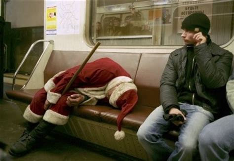 drunk santa hospitalised  crashing sleigh  high