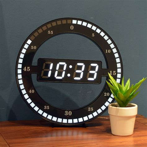 simple led ring wall clock automatic