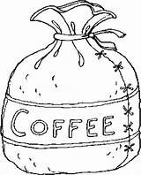 Coffee Coloring Pages West Bag Print Printable Pot Cup Getcoloringpages Places sketch template