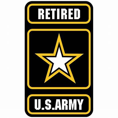 Army Retired Sticker Military Clipart Stickers Decals