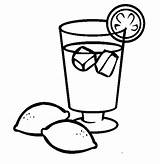 Coloring Drinks sketch template