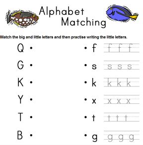 Alphabet Big And Small Letter Matching
