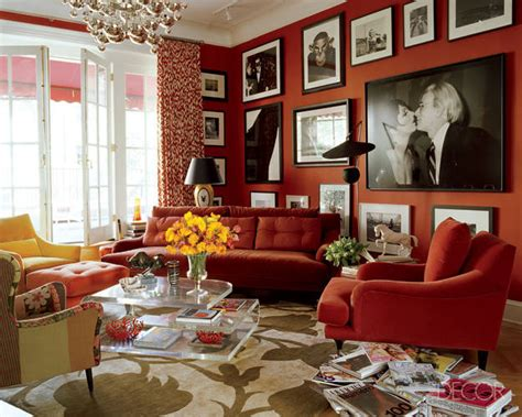 Living Rooms Goes With Red Walls  Home Decoration Club