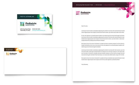 pediatric doctor business card letterhead template