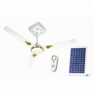Solar emergency ceiling fan inch
