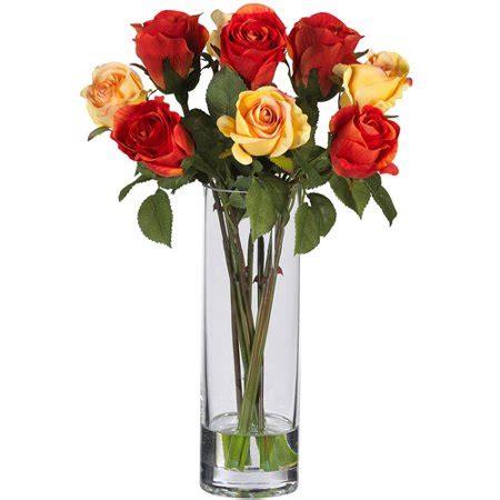 walmart flower vases roses with glass vase silk flower arrangement walmart