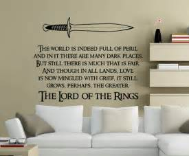 Lord of the Rings Quote Wall Decal